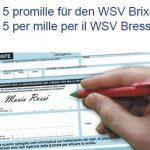 Steuererklärung: 5 Promille an den WSV Brixen!